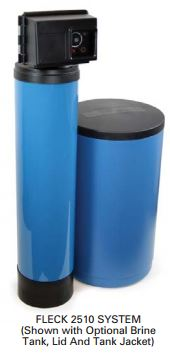 MT2510/16TB-48B-FR - Fleck 2510 Time Based Water Softener W/ Fine Mesh Resin