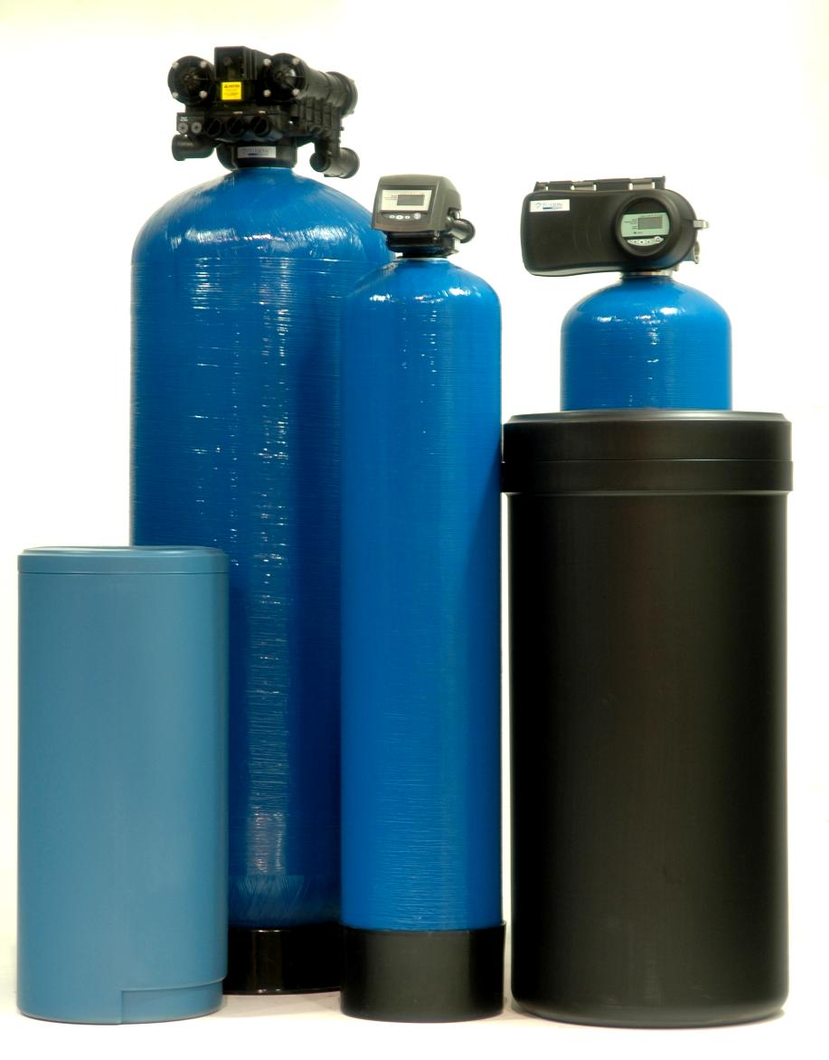 Fleck meter based softeners w/ fine mesh resin